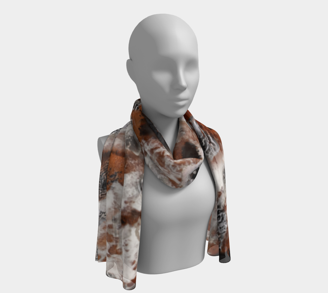 """Antiqua"" Long Scarf, Head-Wrap, Face Covering"