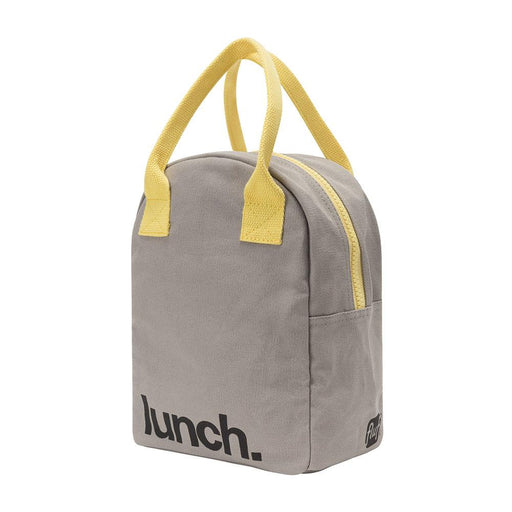 ZIPPER LUNCH BAG | Grey Yellow