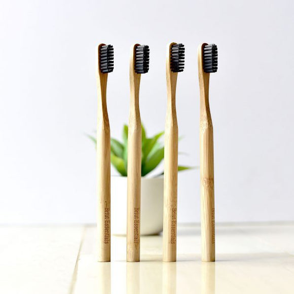 Biodegradable Bamboo Toothbrush | 4-pack