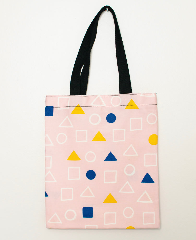 Mini Canvas Tote Bag | Geometric