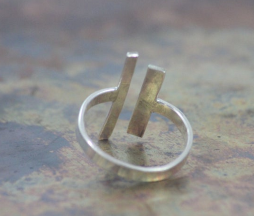 Double Bar Sterling Silver Ring