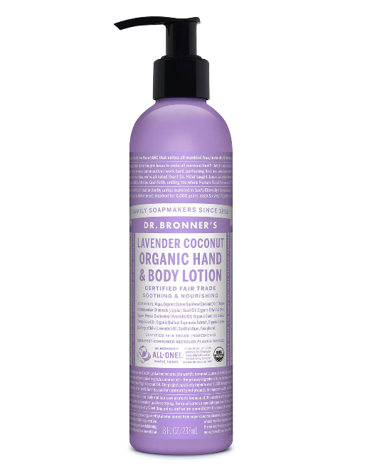 Lavender Coconut Organic Hand & Body Lotion