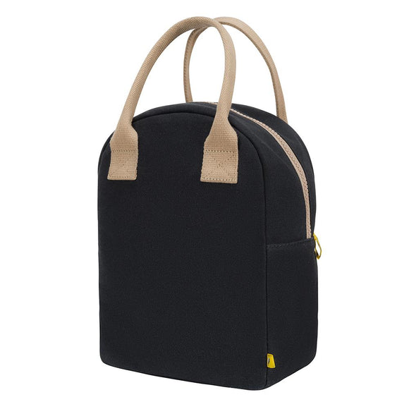 ZIPPER LUNCH BAG | Solid Black