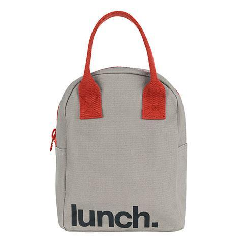 ZIPPER LUNCH BAG | Grey Rust