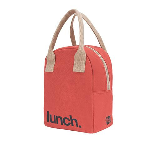 ZIPPER LUNCH BAG | Solid Red