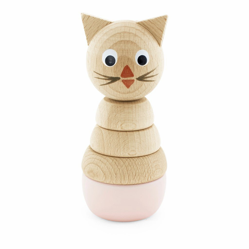 Wooden Cat Stacking Puzzle - Victoria