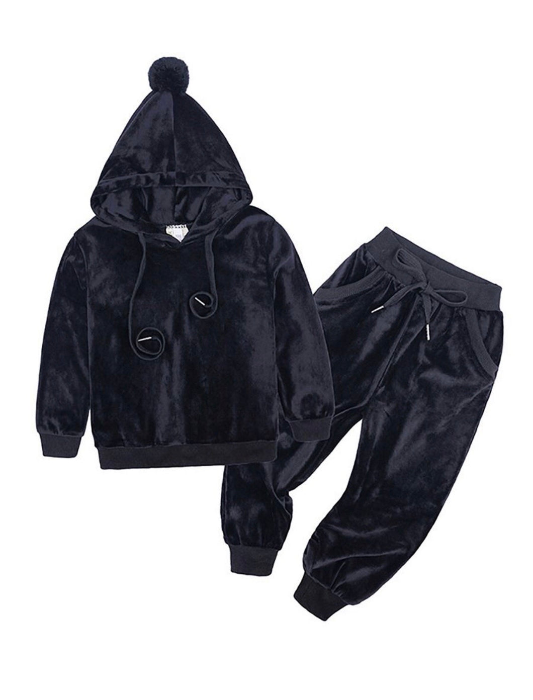 Velour Tracksuit - Black