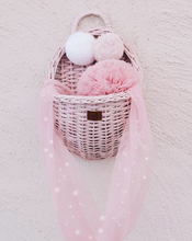 Load image into Gallery viewer, Wicker Wall Basket - Dusty Pink