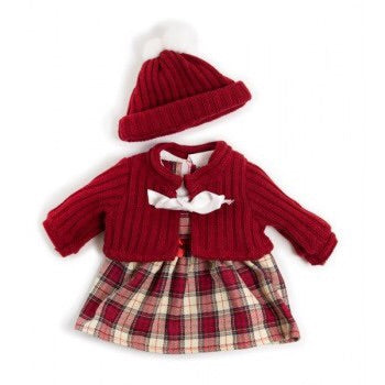 Miniland Clothing - Winter Tartan Dress Set 38-42cm