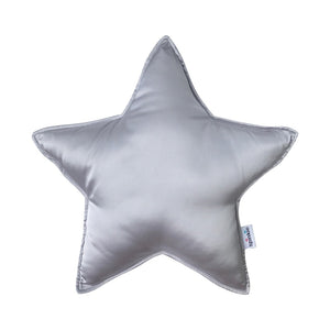 Charmeuse Star Pillow - Silver