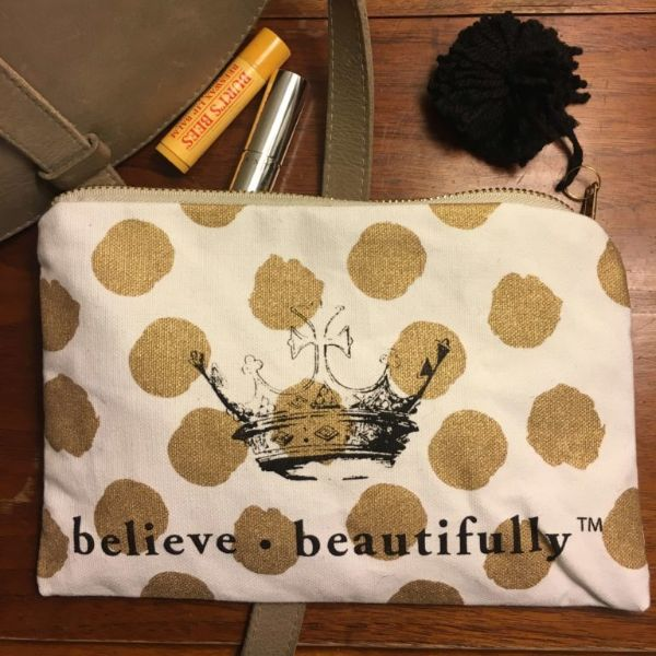 Believe Beautifully Cosmetic Bag