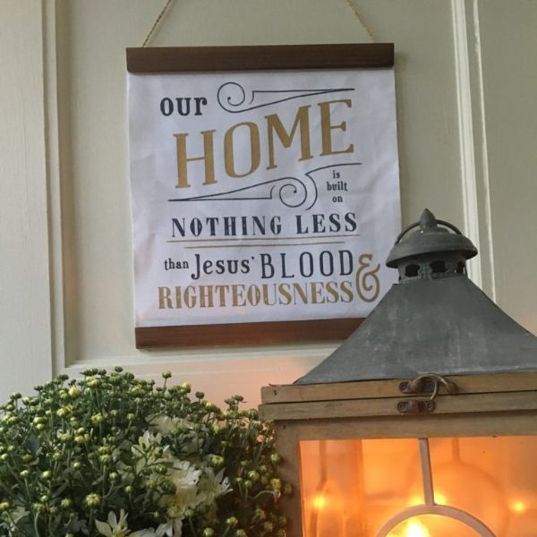 Our Home Is Built Sign