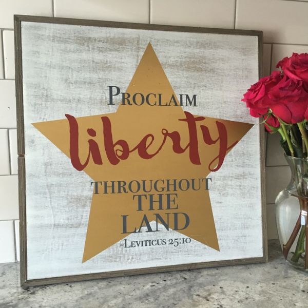 Proclaim Liberty Frame Sign