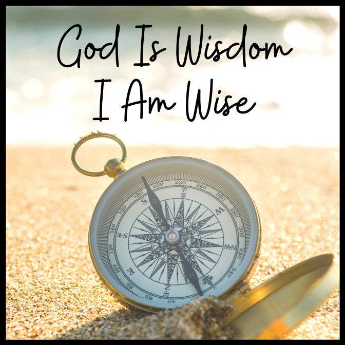 God Is Wisdom I Am Wise Acrylic Magnet
