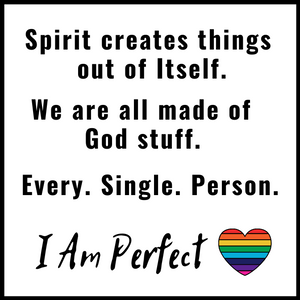 I Am Perfect Acrylic Magnet