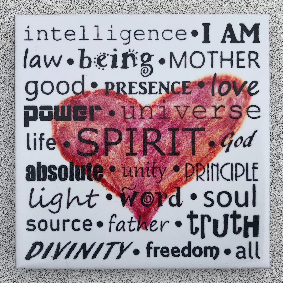 Words for Spirit Ceramic Art Tile