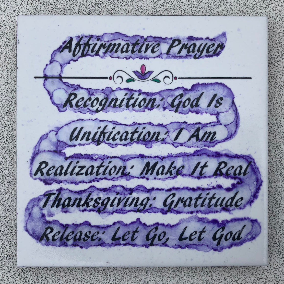 Affirmative Prayer Ceramic Art Tile