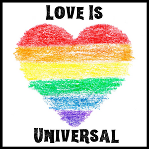 Love Is Universal Acrylic Magnet