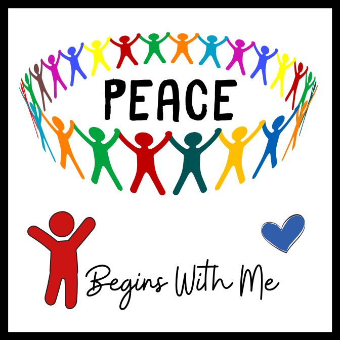 Peace Begins With Me Acrylic Magnet