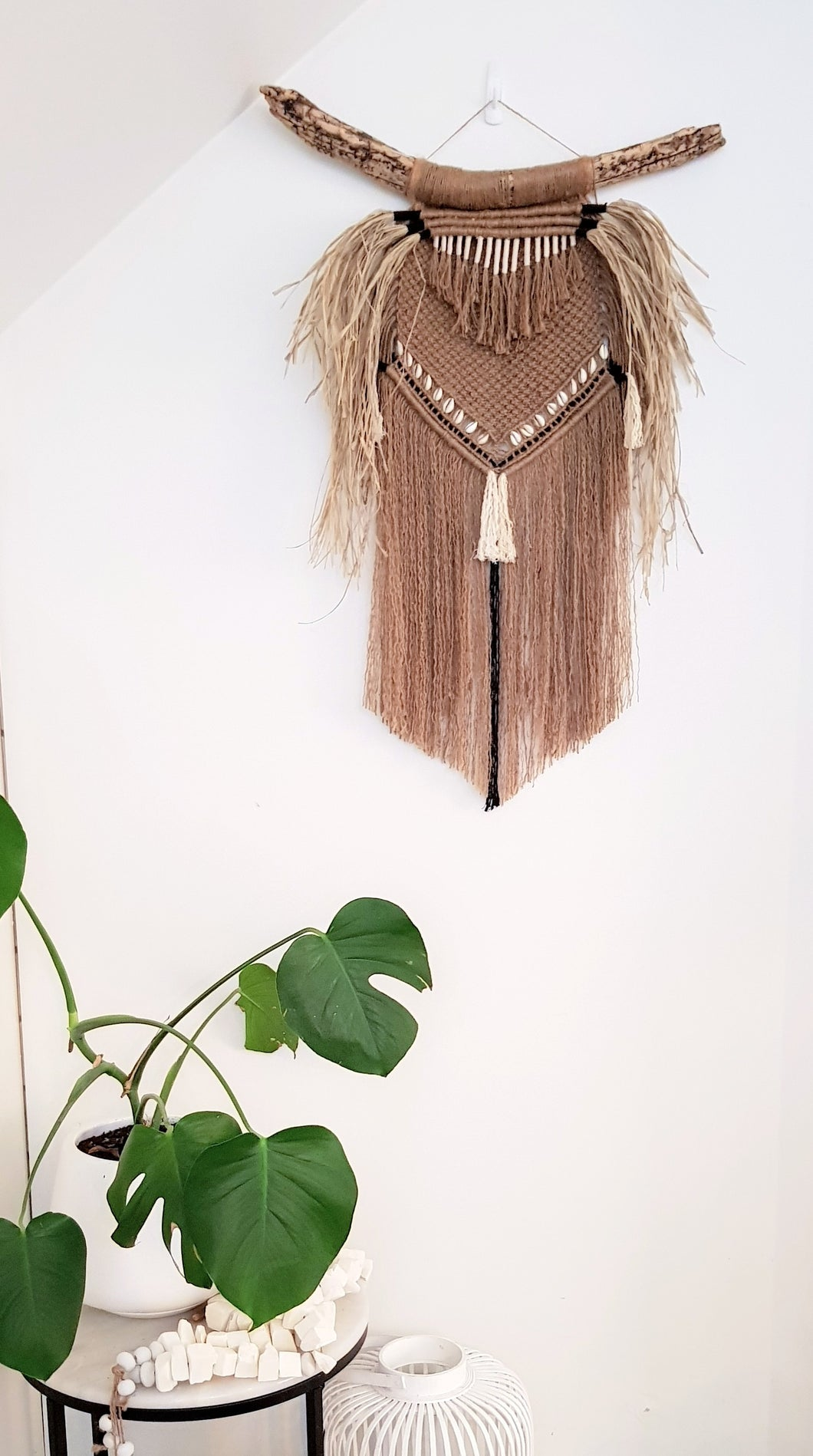 Tribal inspired Macrame Wall Hanging.