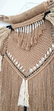 Load image into Gallery viewer, Tribal inspired Macrame Wall Hanging.