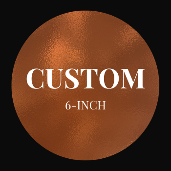Custom Design 6-inch Round Cake, serves 6-8