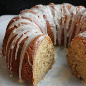 Apple Cider Doughnut Cake with Apple Cider Glaze