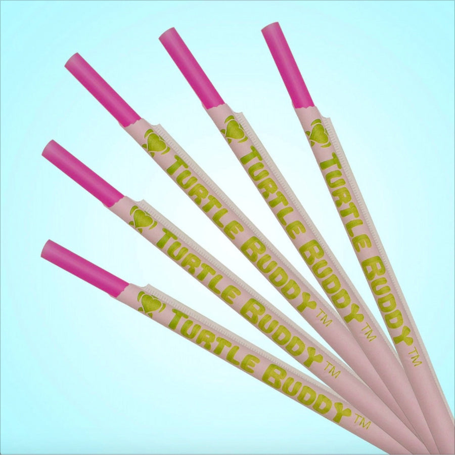 Bright Pink PP Straws