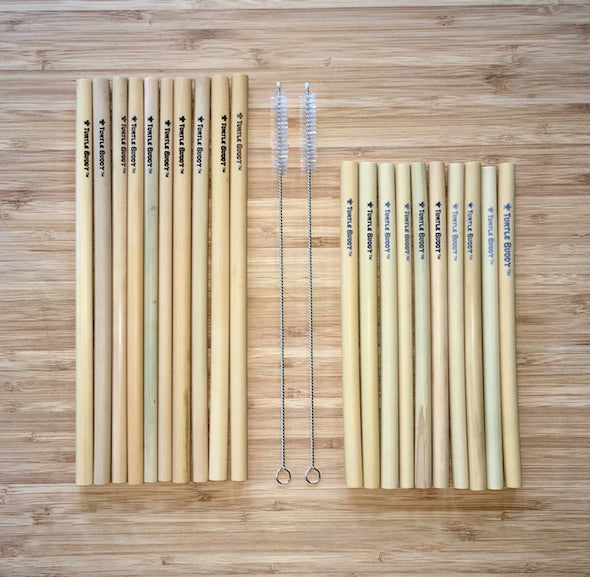 15 Pack Turtle Buddy Bamboo Straws