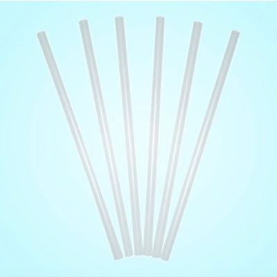 Clear Unwrapped PLA Straw 10 inch