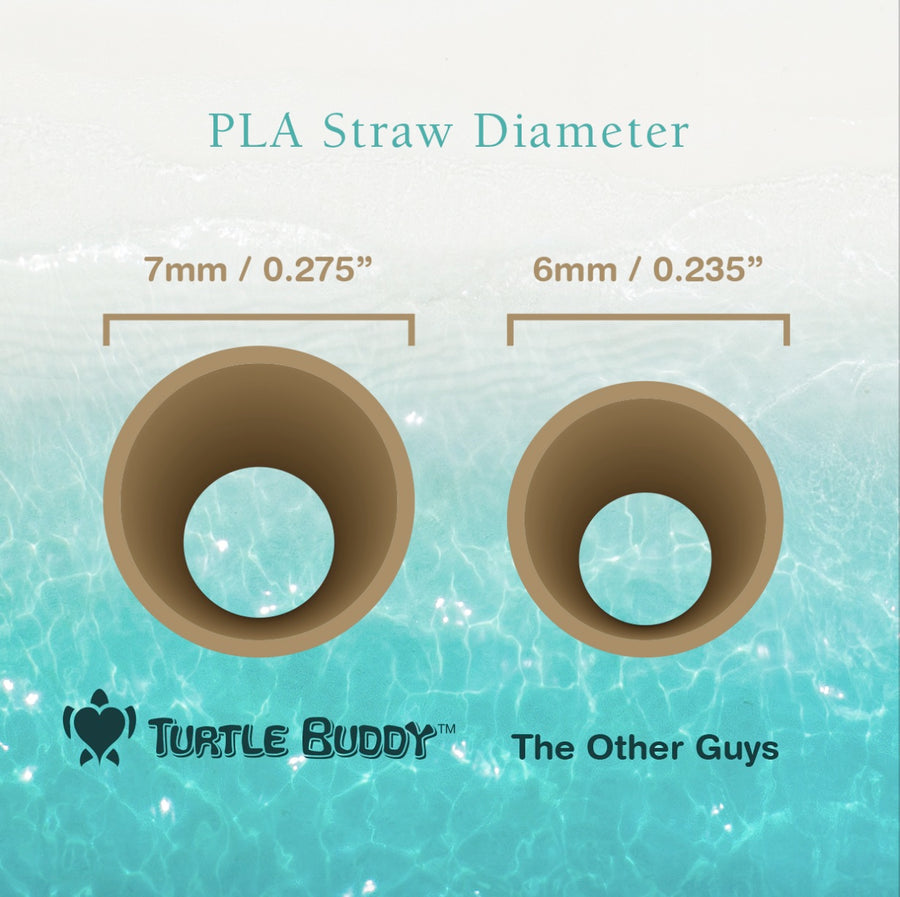 Black PLA Straw 7.75 inch