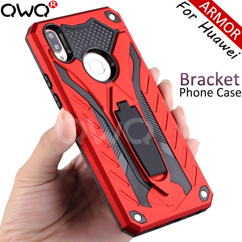 armor shockproof Phone case For Huawei Mate 20 Lite pro 10 Lite Pro Full cover protective For Huawei P20 Lite Pro Kickstand Case - The Best Phone cases cover,iPhoneCases,HuaweiCases,SamSungCases Cases Covers