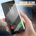 Luxury Mirror Flip Stand Case For iPhone 6 iPhone 7 iPhone 8 iPhone 6s Plus Clear View Smart Cover For iPhone X Shockproof Cases Shell - The Best Phone cases cover,iPhoneCases,HuaweiCases,SamSungCases Cases Covers