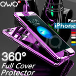 360 Full Cover Phone Case For apple iPhone X iPhone 8 Plus iPhone 6 6s iPhone 7 Plus PC Protective Cover For iPhone 6 6S 7 8 X Case Cover With Glass - The Best Phone cases cover,iPhoneCases,HuaweiCases,SamSungCases Cases Covers