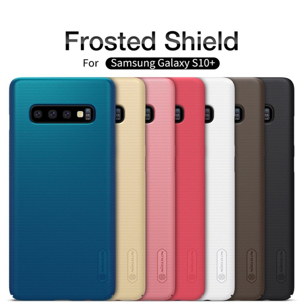 New Samsung Galaxy S10 S10+ Plus Case NILLKIN Super Frosted Shield hard back cover case For Samsung S10e case+phone stand - The Best Phone cases cover,iPhoneCases,HuaweiCases,SamSungCases Cases Covers