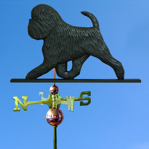 Affenpinscher (Natural) Weathervane - Michael Park, Woodcarver