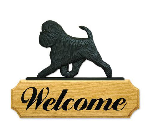 Affenpinscher (Natural) DIG Welcome Sign