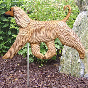 Afghan Hound Garden Stake - Michael Park, Woodcarver