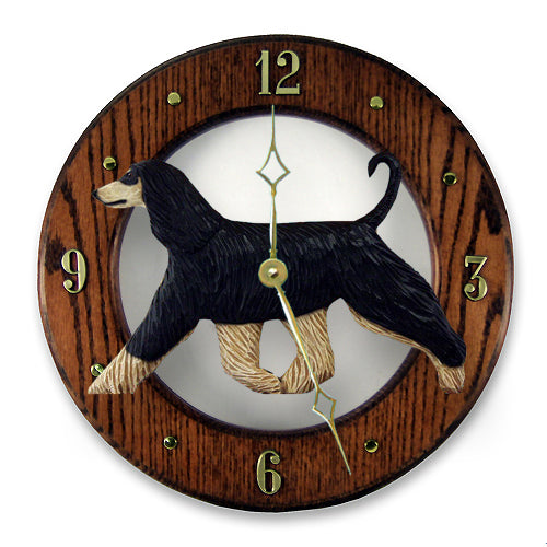 Afghan Hound Wall Clock - Michael Park, Woodcarver