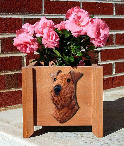 Airedale Planter Box - Michael Park, Woodcarver
