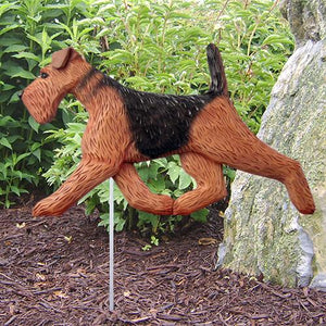 Airedale Garden Stake - Michael Park, Woodcarver