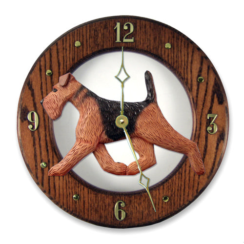 Airedale Wall Clock - Michael Park, Woodcarver