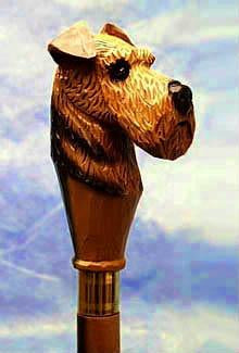 Airedale Walking Stick