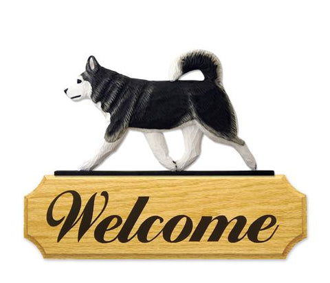 Alaskan Malamute DIG Welcome Sign