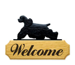 Cocker Spaniel DIG Welcome Sign