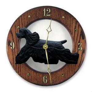 Cocker Spaniel Wall Clock - Michael Park, Woodcarver