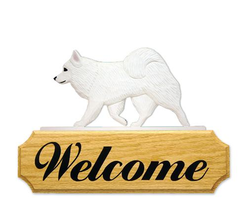 American Eskimo Dog DIG Welcome Sign