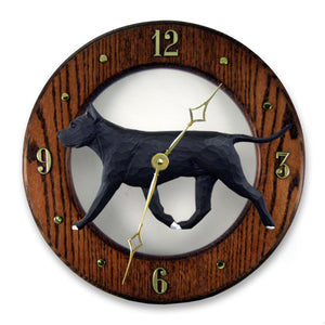 American Staffordshire Terrier Wall Clock - Michael Park, Woodcarver