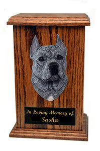 American Staffordshire Terrier (Cropped) Memorial Urn