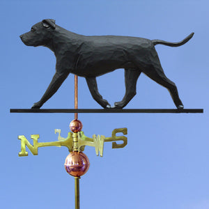 American Staffordshire Terrier (Natural) Weathervane - Michael Park, Woodcarver